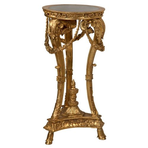 Baroque Gold Stand with Marble Top